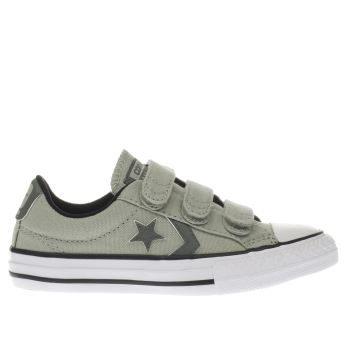 CONVERSE KHAKI STAR PLAYER 3V BOYS JUNIOR TRAINERS
