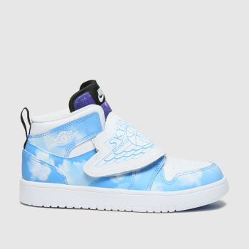 Nike Jordan White & Pl Blue Sky Jordan 1 Fearless Boys Junior