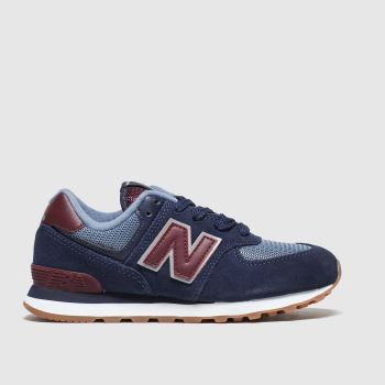 New Balance Navy 574 c2namevalue::Boys Junior