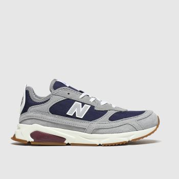 New Balance Grey & Navy Xrc c2namevalue::Boys Junior