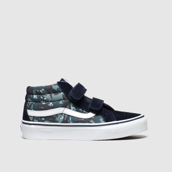 Vans Navy & Green Sk8-mid Reissue V Boys Junior