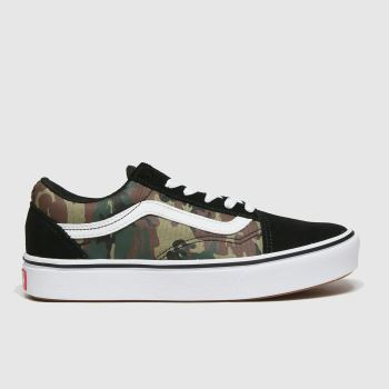 Vans Khaki Comfycush Old Skool Boys Junior