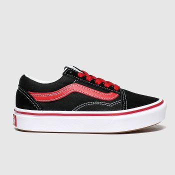 Vans Black & Red Comfycush Old Skool Boys Junior