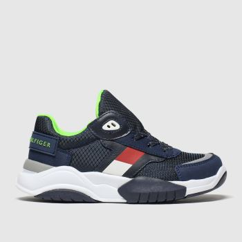 tommy hilfiger navy lace up sneaker trainers junior