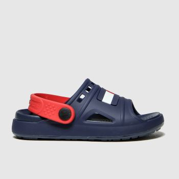 Tommy Hilfiger Navy & Red Comfy Sandal Boys Junior