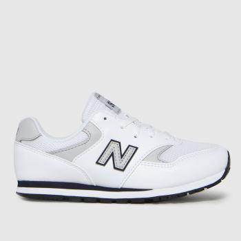 New balance White & grey 393 Boys Junior
