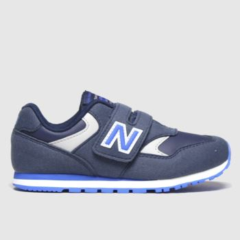 New Balance Navy & Pl Blue 393 2v Boys Junior