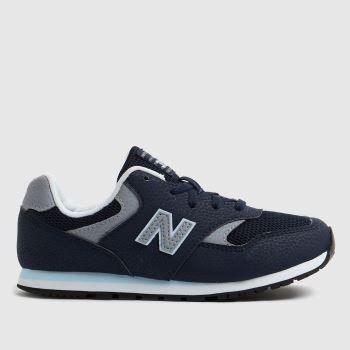 New balance Navy & Grey 393 Boys Junior