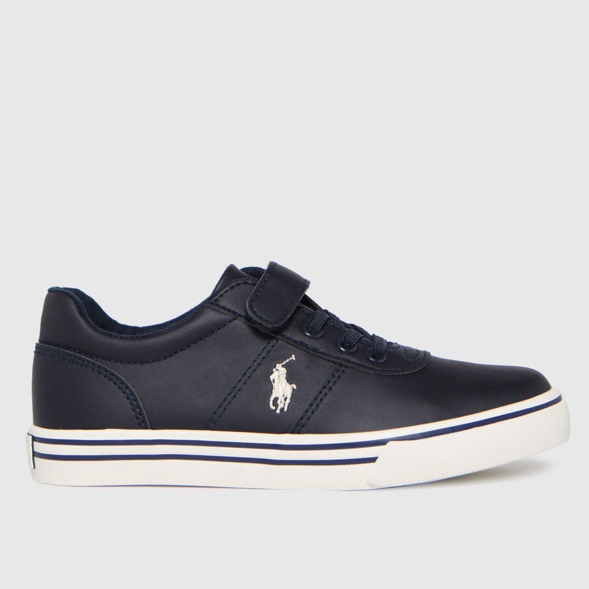 Polo Ralph Lauren Navy & White Hanford Ii Ps Trainers Junior