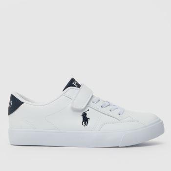 Polo Ralph Lauren White & Navy Theron Iv Ps Boys Junior