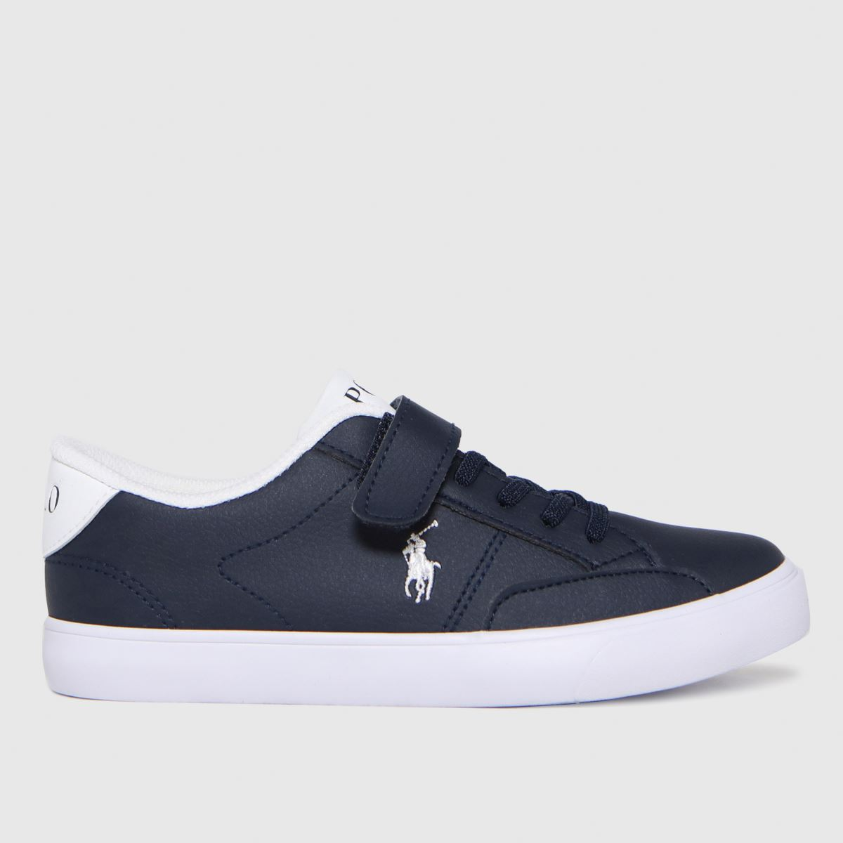 Polo Ralph Lauren Navy & White Theron Iv P Trainers Junior
