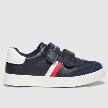 Tommy Hilfiger Navy & White Low Cut Velcro Sneaker Boys Junior