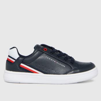 Tommy Hilfiger Navy & White Low Cut Lace-up Sneaker Boys Junior
