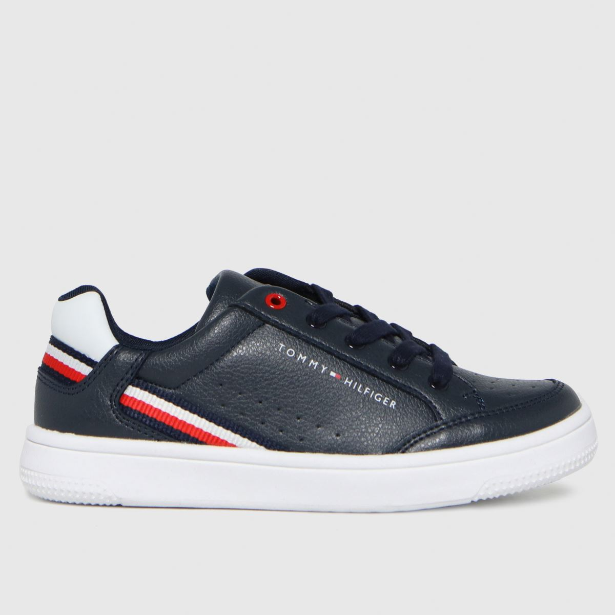 Tommy Hilfiger Navy & White Low Cut Lace-up Sneaker Trainers Jun
