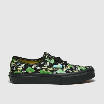 Vans Black & Green Authentic Simpsons Boys Junior#