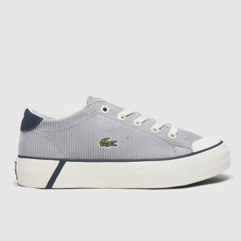 Lacoste White & grey Gripshot Jnr Boys Junior
