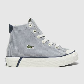 Lacoste White & grey Gripshot Mid Boys Junior
