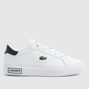 Lacoste White & Green Powercourt Boys Junior