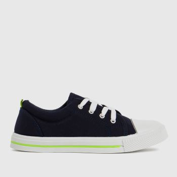 schuh Navy & Lime Major Lace Up Boys Junior