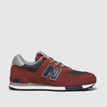 New Balance Red 574 Boys Youth from Schuh