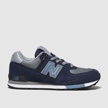 New Balance Navy & Pl Blue 574 Boys Youth