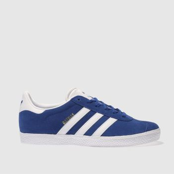 ADIDAS BLUE GAZELLE TRAINERS YOUTH