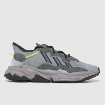 adidas Grey & Lime Ozweego Boys Youth