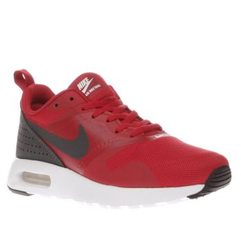 NIKE RED AIR MAX TAVAS BOYS YOUTH TRAINERS