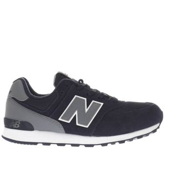 NEW BALANCE NAVY 574 BOYS YOUTH TRAINERS