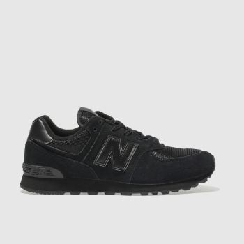 New Balance Black 574 Boys Youth