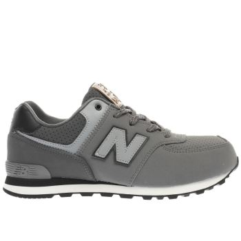 NEW BALANCE GREY 574 BOYS YOUTH TRAINERS