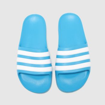 adidas Blue Adilette Aqua Boys Youth