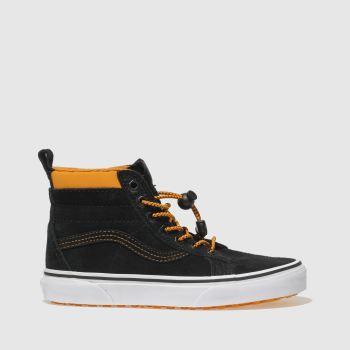 Vans Black & Orange Sk8-Hi Mte Boys Youth