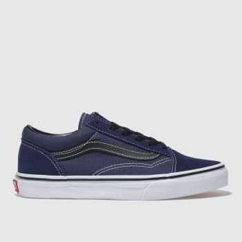 Vans Navy & Black Old Skool Boys Youth