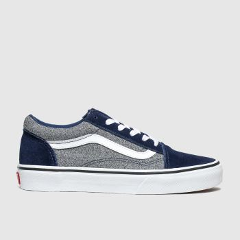 Vans Navy & Grey Old Skool Boys Youth