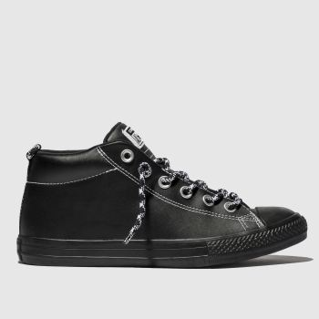 Converse Black & White All Star Street Mid Boys Youth