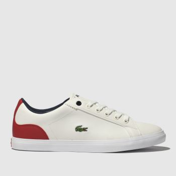 Lacoste White & Red Lerond Boys Youth