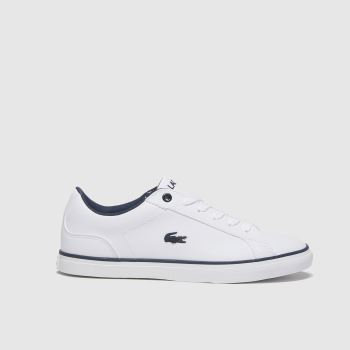 Lacoste White & Navy Lerond Boys Youth#