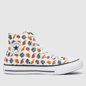 Converse White & Orange Hi Dino Daze Boys Youth
