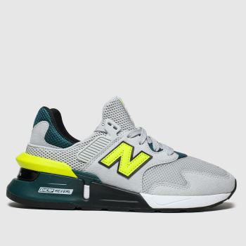 New Balance Grey & Lime 997 Boys Youth
