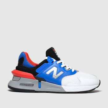 New Balance White & Blue 997 Boys Youth