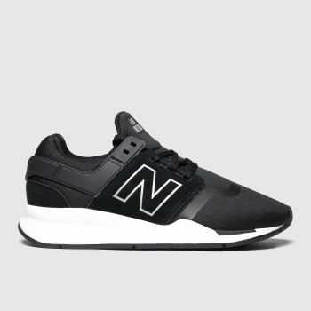 new balance black & white 247 trainers youth