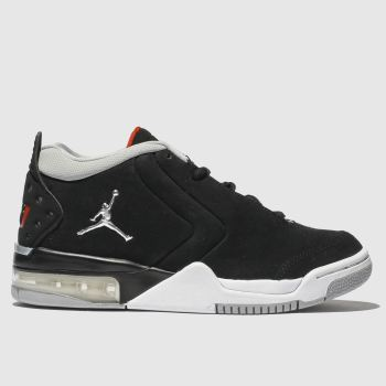 Nike Jordan Black & Silver Nike Jordan Big Fund Boys Youth