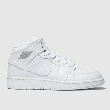 Nike Jordan White 1 Mid Boys Youth