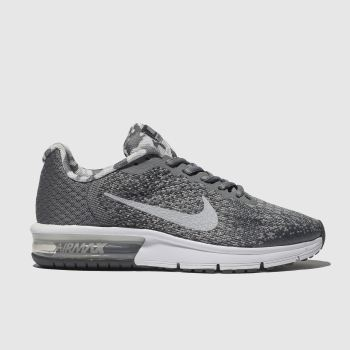 Nike Grey Air Max Sequent 2 Boys Youth