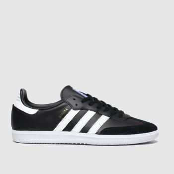 Adidas Black & White Samba Og Boys Youth