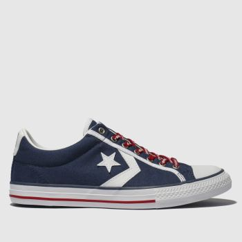 CONVERSE NAVY & WHITE STAR PLAYER EV LO TRAINERS YOUTH