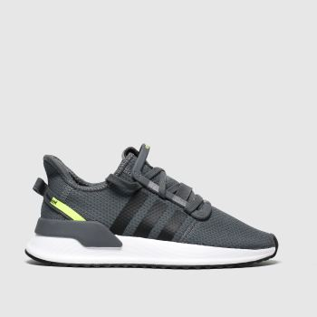 Adidas Grey & Black U_path Run Boys Youth