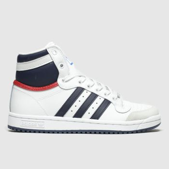 Adidas White & Blue Top Ten Hi Boys Youth