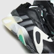 adidas black & white streetball trainers youth